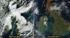 卫星监测地球变化:北冰洋海冰现历史低点(1)
