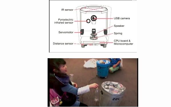 乐智网,垃圾桶机器人,日本